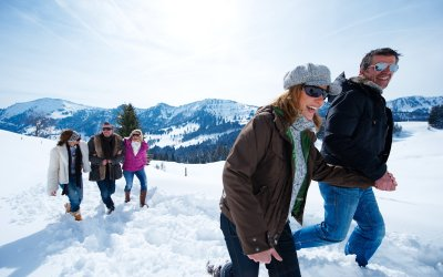 Winterwandern im Schneeparadies