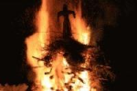 Funkenfeuer in Kalzhofen