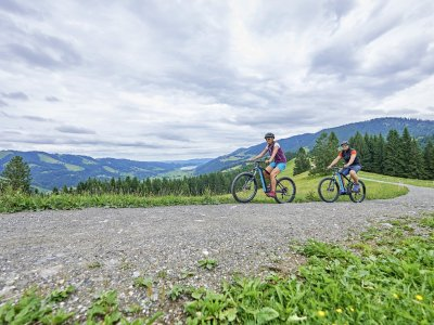E-Biken am Hündle in Oberstaufen