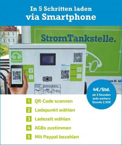 Strom-Tankstelle via Smartphone