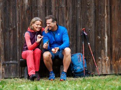 Wandern in Oberstaufen - Rast