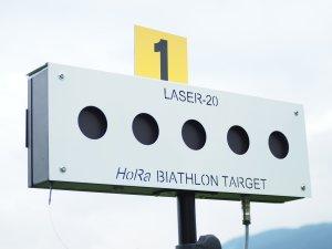 Schießstand Biathlon