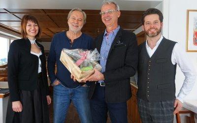 Schauspieler Gerd Silberbauer zu Gast im Birkenhof Oberstaufen/Steibis
