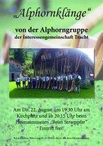 Plakat Alphornprobe