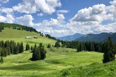 Ausblicke bei der Radtour durchs Ehrenschwanger Tal