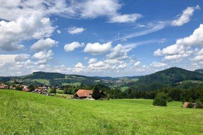 Blick von Steibis Richtung Oberstaufen