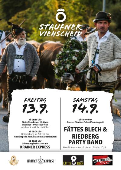 Plakat Viehscheid Oberstaufen 2019