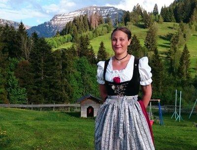 Sonja Bingger Mitglied Festausschuss Viehscheid Oberstaufen
