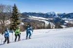 Schneeschuhtour hinauf zum Kapf Oberstaufen