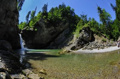Buchenegger Wasserfälle sind ein lohnendes Ausflugsziel