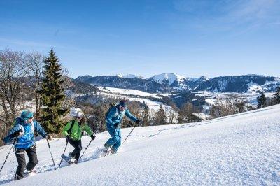 Schneeschuhwanderung in Oberstaufen