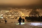 Schneeschuhwandern mit Oli - Abendstimmung am Staufen