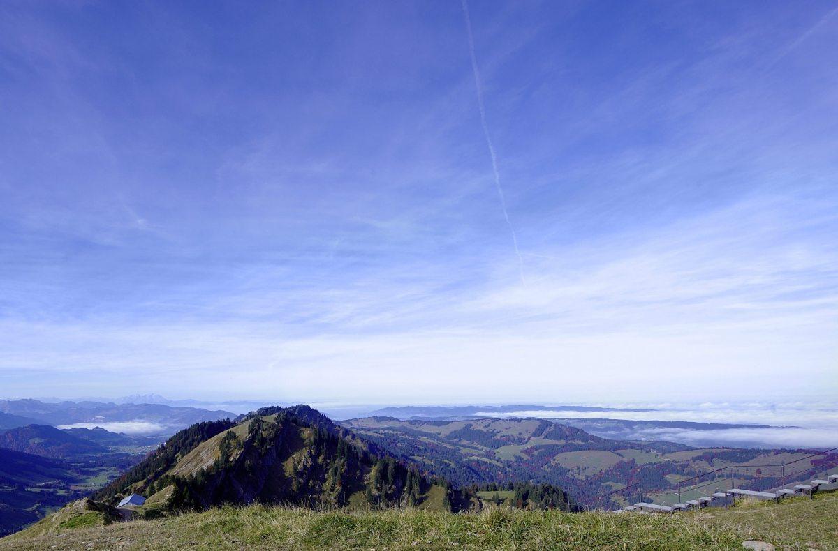 Fernsicht von der Hochgrat-Bergstation