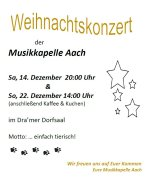 Weihnachtskonzert Musikkapelle Aach 2019
