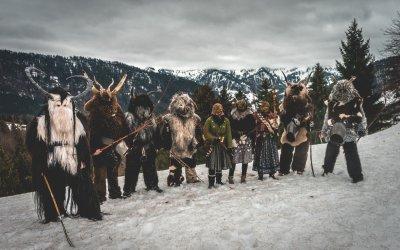 Klausen und Bärbele vom Schellekneacht e.V. Oberstaufen