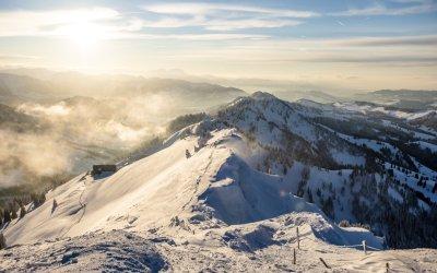 Hochgrat Winter Ausblick Berge
