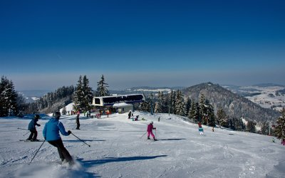 Skifahren am Hündle