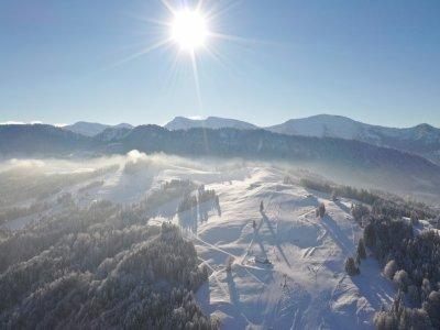 Hündle Winter Drohnenaufnahme