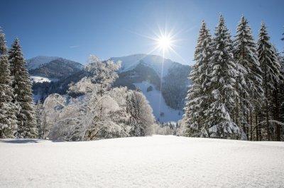 Sicht auf den Hochgrat im Winter