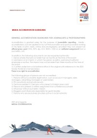 Media-Accreditation Guidelines