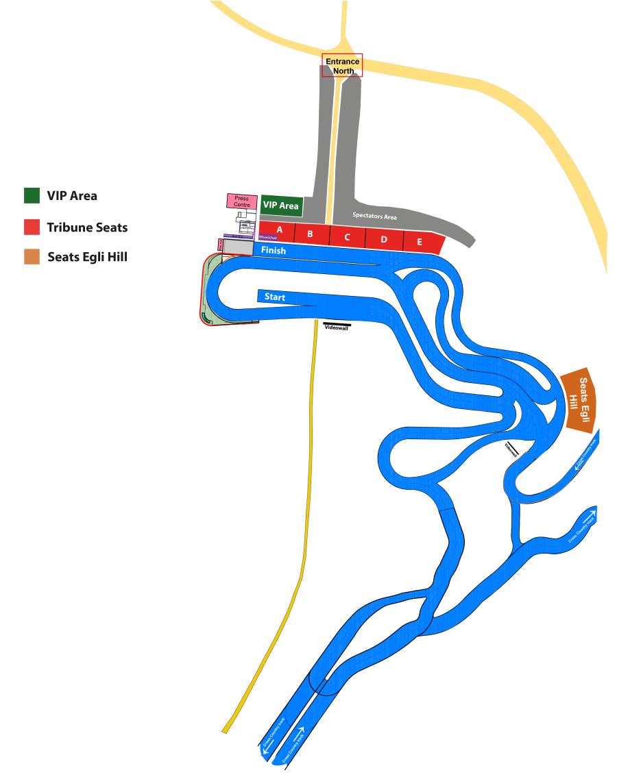 Stadionplan Langlauf NWM2021 Sitzplätze
