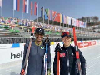 Nzumbe Nyanduga und Nicholas Lau