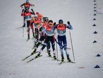 Atheletes during Nordic Combined Men Individual Gundersen NH/10.0km