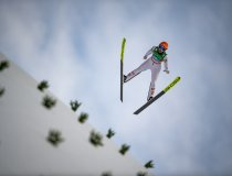 Marita Kramer from Austria competes in the Ski Jumping Women Normal Hill Team