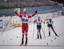 Alexander BOLSHUNOV (RSF) wins the Cross Country Men 15.0km Classic + 15.0km Free Skiathlon