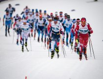 Alexander BOLSHUNOV from RSF leads the field in the Cross Country Men 15.0km Classic + 15.0km Free Skiathlon