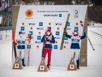 World champion Alexander BOLSHUNOV (RSF, center), 2nd Rank Simen Hegstad KRUEGER (NOR, left), 3rd Hans Crister HOLUND (NOR