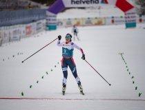 Gyda HANSEN WESTVOLD (NOR) reacts during Nordic Combined Women Individual Gundersen NH/5km
