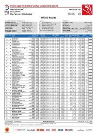 SJ Official Results - Men Normal Hill individual