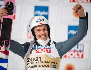 World Champion Piotr ZYLA (POL) Men Normal Hill Individual competition