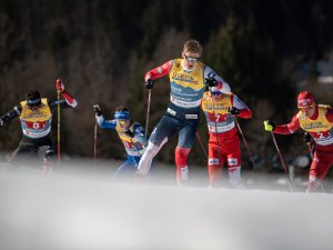 Erik VALNES (NOR) competes in the Cross Country Men Team Sprint
