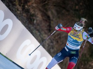 Therese JOHAUG (NOR) competes in the Cross Country Women 10.0 km Interval Start Free
