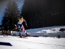 Rosi BRENNAN (USA) competes in the Cross Country Women 10.0 km Interval Start Free World Ski