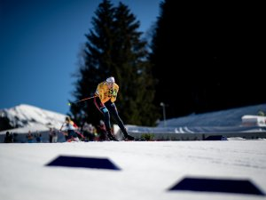 Victoria CARL (GER) competes in the Cross Country Women 10.0 km Interval Start Free