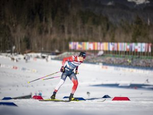 Johannes Hoesflo KLAEBO (NOR) competes in the Cross Country Men Sprint Classic Qualification