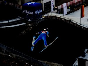 Sara TAKANASHI (JPN) competes in the in the Ski Jumping Women Normal Hill Individual Final
