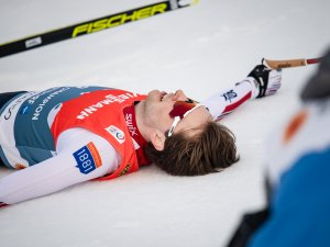 Jarl Magnus RIIBER (NOR ) reacts during Nordic Combined Men Individual Gundersen NH/10.0km