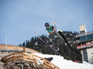 Kamila Karpiel (POL) competes in the Ski Jumping Women Normal Hill Team