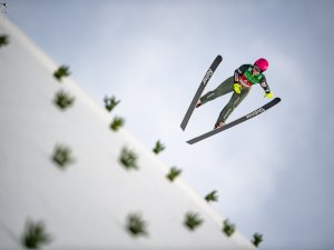 Anna WARDOSZ (POL) competes in the Ski Jumping Women Normal Hill Team