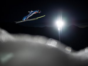 Maren Lundby (NOR) competes during Ski Jumping Women Large Hill Individual