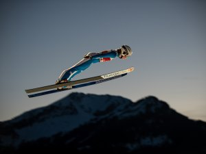Klara ULRICHOVA (CZE) competes during Women Large Hill Individual Qualification