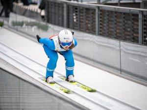 Gyda Westvold Hansen (NOR) competes in the Women Individual Gundersen NH/5km