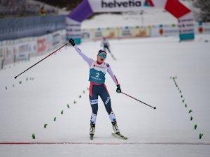 Gyda HANSEN WESTVOLD (NOR) reacts during Nordic Combined Women Individual Gundersen NH:5km