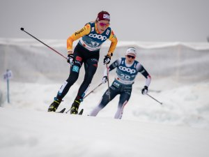 Lisa LOHMANN (GER) competes in the Cross Country Women 7.5km Classic + 7.5km Free Skiathlon