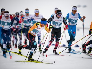 Jonas DOBLER from Germany performs in the Cross Country Men 15.0km Classic + 15.0km Free Skiathlon