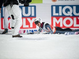 Piotr Zyla (POL) competes in the Men Normal Hill Individual competion round